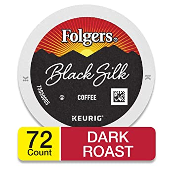 Folgers Black Silk Dark Roast Coffee K Cups