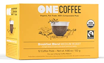 OneCoffee Organic Breakfast Blend 100% Compostable K Cup