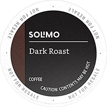 Solimo Amazon Brand Dark Roast Coffee Pods