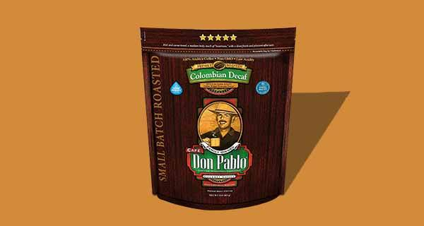 Cafe Don Pablo Colombian Decaf Whole Bean Coffee
