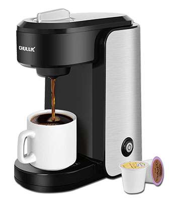 CHULUX Stainless Steel Single Serve Coffee Maker
