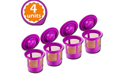 GoodCups 4 Reusable K Cups for Keurig