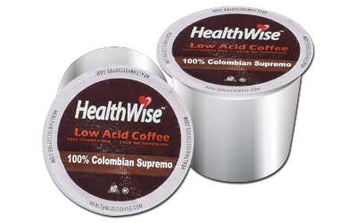 HealthWise Colombian Supremo Low Acid Coffee K Cup
